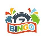 I numeri fortunati delle palle di lotteria di bingo del lotto vincono l'icona di vettore Immagini Stock Libere da Diritti