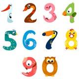 I numeri gradiscono gli uccelli Fotografie Stock