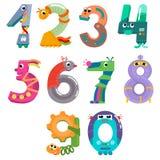 I numeri gradiscono i robot Fotografie Stock