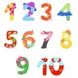 I numeri gradiscono i simboli della donna Illustrazione di Stock