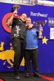 I nuovi dardi europei campione, è Phil Taylor. Fotografia Stock