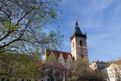 I nuovi edifici di municipio su Charles Square, Praga fotografie stock libere da diritti