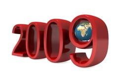 I nuovi numeri di 2009 anni con il globo Immagine Stock Libera da Diritti