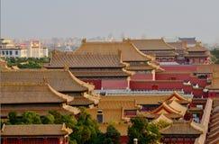 I Oktober 29, 2017 Jingshan kulle Chunting miljon Arkivfoto