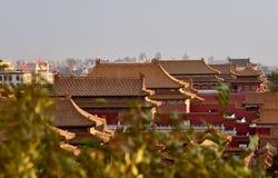 I Oktober 29, 2017 Jingshan kulle Chunting miljon Arkivfoton