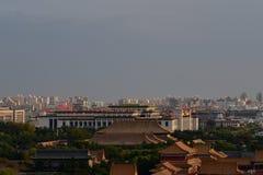 I Oktober 29, 2017 Jingshan kulle Chunting miljon Royaltyfri Bild