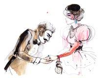 On i ona royalty ilustracja