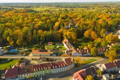 Iłowa, A Small Town In Poland Seen From Above. Stock Photography