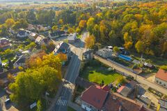 Iłowa, A Small Town In Poland Seen From Above. Stock Images