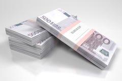 I pacchetti di 500 euro fatture illustrazione di stock