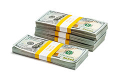 I pacchi di 100 dollari americani di banconote 2013 dell'edizione Immagini Stock Libere da Diritti