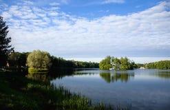 I paesaggi del lago del Tsarskoye Selo Fotografia Stock