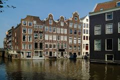I Paesi Bassi, Amsterdam, costruzioni Fotografia Stock Libera da Diritti
