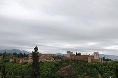 I palazzi di Alhambra a Granada, Andalusia fotografia stock