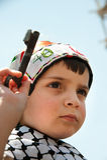 I Palestinesi si radunano per commemorare il giorno di Nakba Immagini Stock