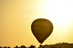 I palloni prendono il volo Fotografia Stock