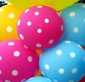 I palloni variopinti fanno un umore felice fotografia stock