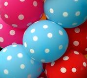 I palloni variopinti fanno un umore felice fotografie stock libere da diritti