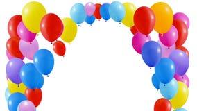 I palloni volano al soffitto illustrazione vettoriale