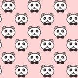 I panda svegli di vettore con il nero piega il modello illustrazione vettoriale