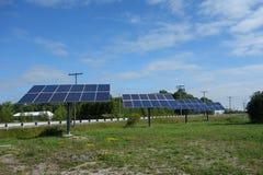 I pannelli solari si avvicinano allo stratford Ontario Immagini Stock