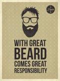 I pantaloni a vita bassa citano - con la grande barba viene la grande responsabilità Fotografia Stock Libera da Diritti