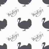 I pantaloni a vita bassa disegnati a mano dell'uccello dell'azienda agricola profilano senza cuciture Fotografia Stock Libera da Diritti