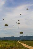 I paracadutisti dell'aeronautica Fotografie Stock