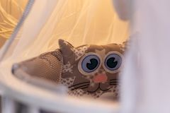 I paraurti ed i cuscini dei bambini svegli immagini stock