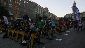 I partecipanti Oporto sono nella buona forma stock footage