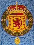 Emblema del castello di Stirling Fotografie Stock Libere da Diritti
