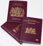 I passaporti dei viaggiatori. Fotografia Stock Libera da Diritti