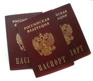 I passaporti russi hanno isolato Fotografia Stock Libera da Diritti