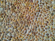 I pavimenti della pietra del ciottolo, strutture del fondo Fotografie Stock
