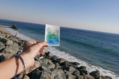 I Am Peace Watercolor Card Royalty Free Stock Photo