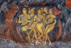 I peccatori hanno condannato ad inferno immagine stock
