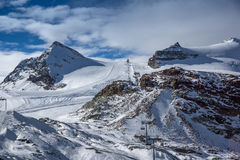 I pendii dello sci di Zermatt ricorrono, alpi, Svizzera Fotografia Stock Libera da Diritti