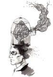 I pensieri dell'uomo illustrazione di stock