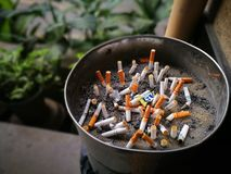 I pericoli di fumo Fotografia Stock