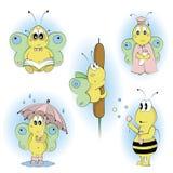 I personaggi dei cartoni animati hanno impostato 2 Fotografia Stock Libera da Diritti