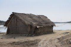 I pescatori alloggiano alla laguna di Kalpitiya, Sri Lanka Fotografia Stock