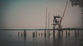 I pescatori stanno pescando Fotografia Stock
