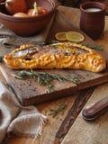 I pesci hanno cotto in pasticceria Fotografia Stock Libera da Diritti
