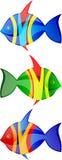 I pesci vector l'insieme Fotografia Stock Libera da Diritti