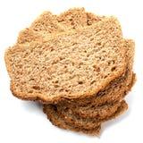 I pezzi di grano impanano isolato su fondo bianco Immagine Stock Libera da Diritti