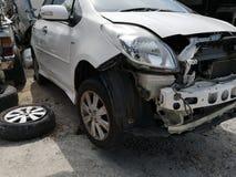 I pezzi di ricambio dall'automobile hanno causato un incidente ‹del †fotografia stock libera da diritti