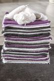 I pezzi per tricottano la coperta Fotografia Stock Libera da Diritti