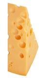 I pezzi perfetti di formaggio svizzero isolati su fondo bianco Immagine Stock Libera da Diritti