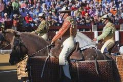 I picadores spagnoli al paseillo o alla parata iniziale fotografia stock libera da diritti