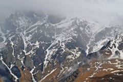 I picchi nevosi del Caucaso Immagini Stock